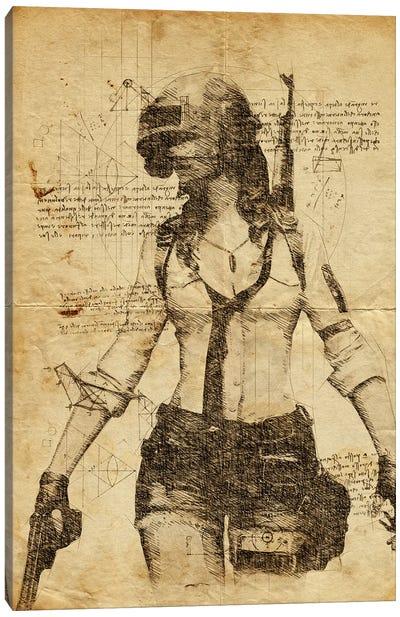 Pubg Girl DaVinci Canvas Art Print