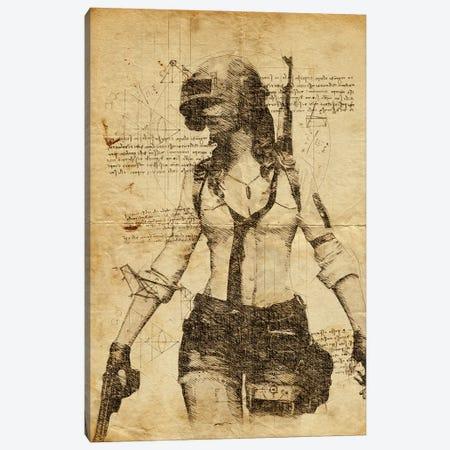 Pubg Girl DaVinci Canvas Print #DUR567} by Durro Art Art Print