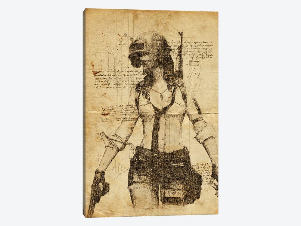 Pubg Girl DaVinci by Durro Art 1-piece Canvas Art Print