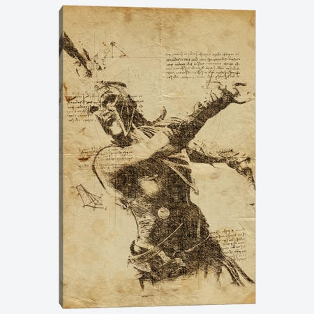 Odyssey 2 DaVinci Canvas Print #DUR569} by Durro Art Canvas Art