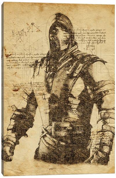 Scorpion DaVinci Canvas Art Print