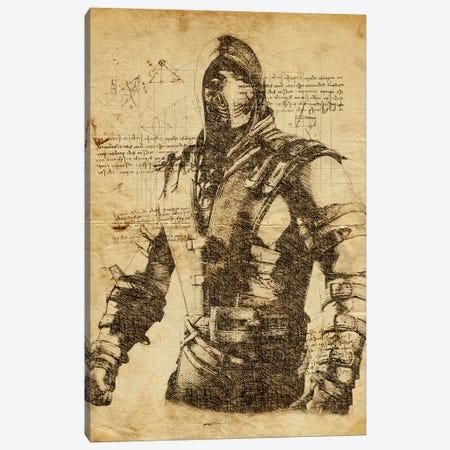 Scorpion DaVinci Canvas Print #DUR570} by Durro Art Art Print