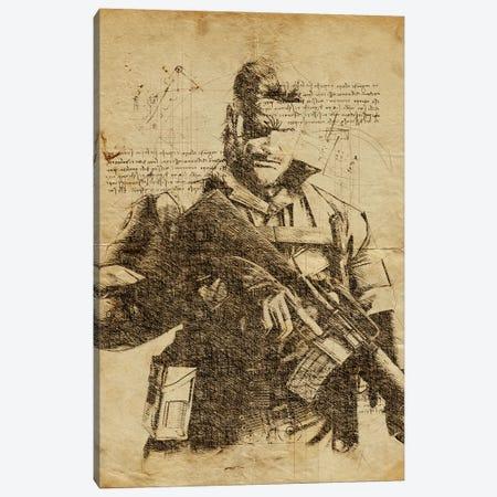 Snake DaVinci Canvas Print #DUR571} by Durro Art Canvas Art Print
