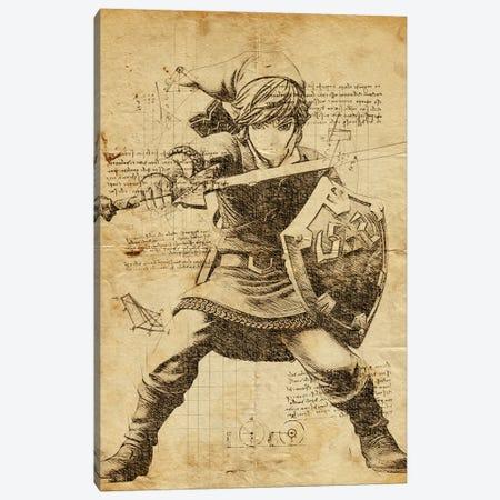 Link DaVinci 3-Piece Canvas #DUR574} by Durro Art Canvas Artwork