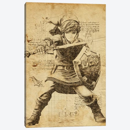 Link DaVinci Canvas Print #DUR574} by Durro Art Canvas Artwork