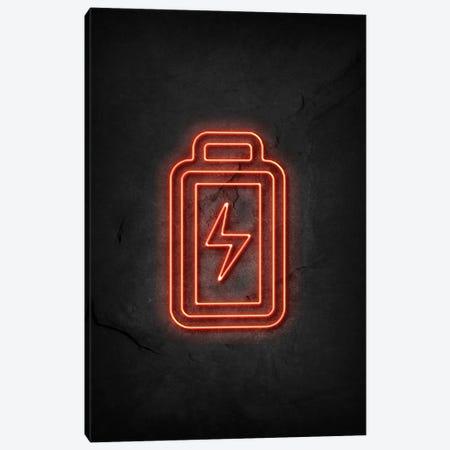Battery Neon Canvas Print #DUR578} by Durro Art Art Print