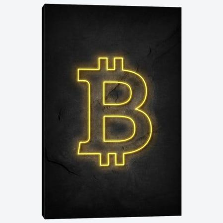 Bitcoin Neon Canvas Print #DUR580} by Durro Art Canvas Artwork