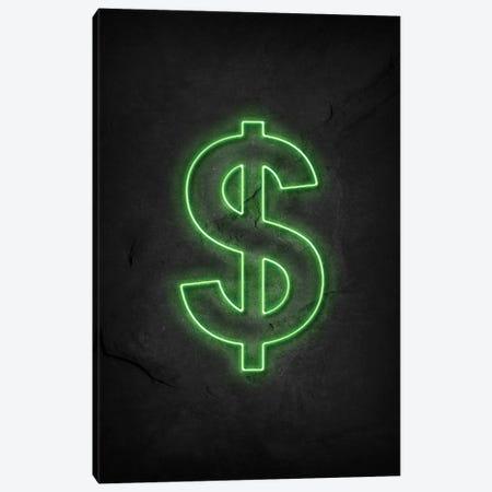 Dollar Neon Canvas Print #DUR581} by Durro Art Canvas Wall Art