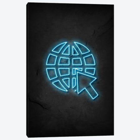 Internet Neon Canvas Print #DUR585} by Durro Art Canvas Art Print