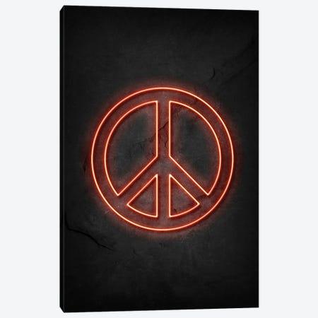 Peace Neon Canvas Print #DUR598} by Durro Art Art Print
