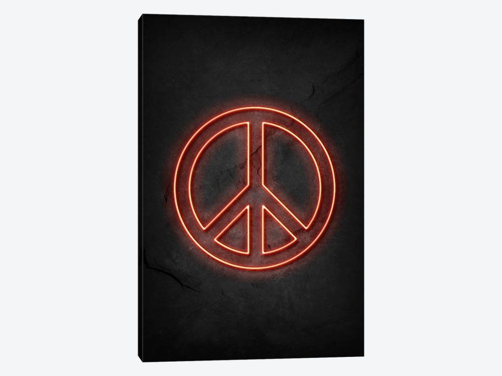 Peace Neon by Durro Art 1-piece Art Print