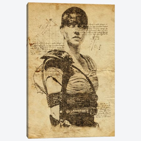 Furiosa Davinci Canvas Print #DUR612} by Durro Art Canvas Artwork
