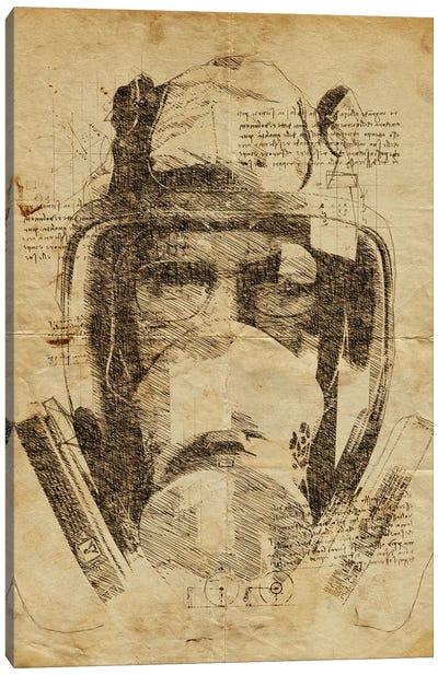 Heisenberg Mask Davinci Canvas Art Print