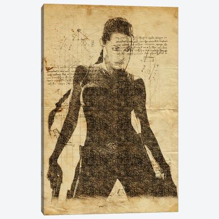 Lara Croft Davinci Canvas Print #DUR615} by Durro Art Canvas Art Print