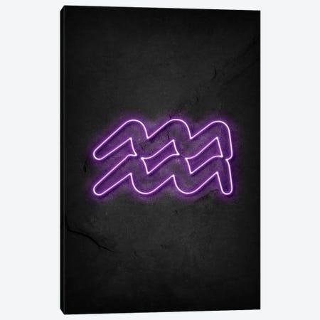 Aquarius Neon Canvas Print #DUR616} by Durro Art Art Print