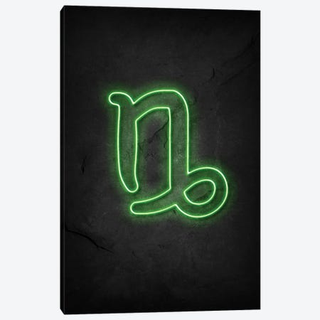 Capricorn Neon Canvas Print #DUR619} by Durro Art Canvas Art