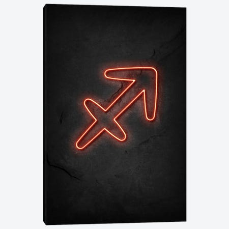 Sagittarius Neon Canvas Print #DUR624} by Durro Art Canvas Wall Art