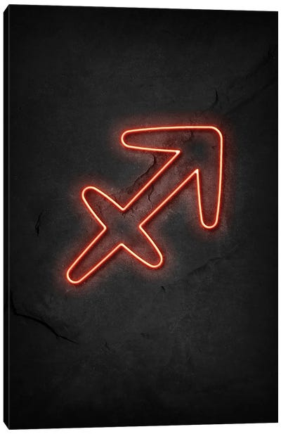 Sagittarius Neon Canvas Art Print