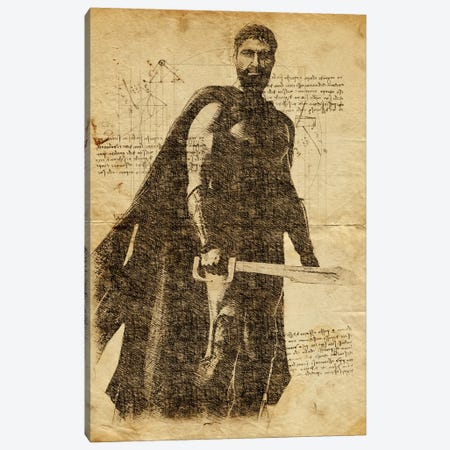 Leonidas Davinci Canvas Print #DUR628} by Durro Art Art Print