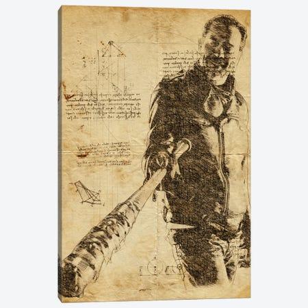 Negan Lucille Davinci Canvas Print #DUR629} by Durro Art Art Print