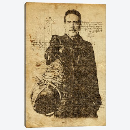 Negan Davinci Canvas Print #DUR630} by Durro Art Canvas Wall Art