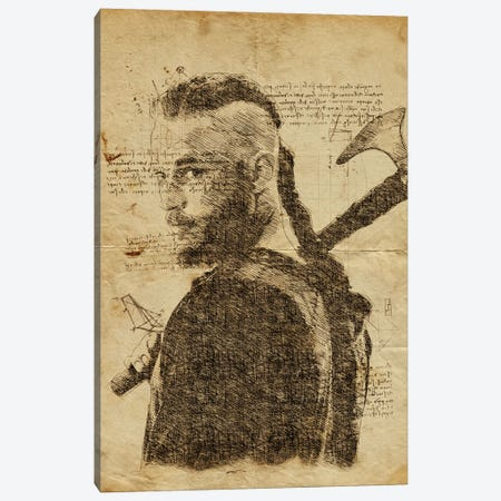 Ragnar Davinci Canvas Print #DUR633} by Durro Art Canvas Artwork