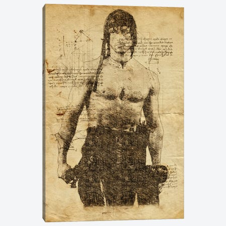 Rambo Davinci Canvas Print #DUR634} by Durro Art Canvas Print