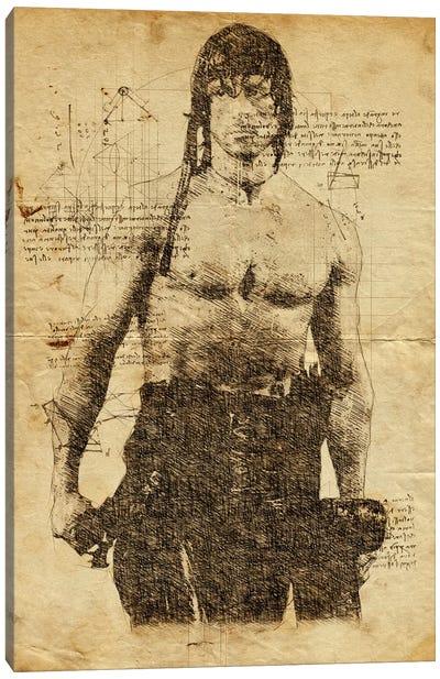 Rambo Davinci Canvas Art Print