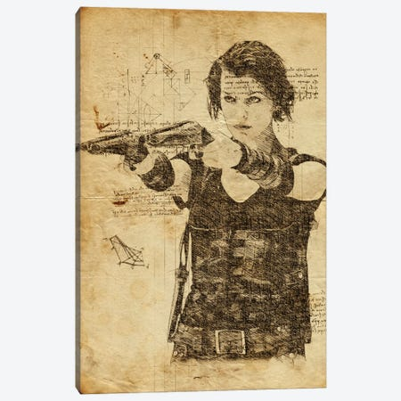 Resident Evil Davinci Canvas Print #DUR635} by Durro Art Canvas Print