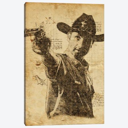 Rick Grimes Davinci Canvas Print #DUR636} by Durro Art Art Print