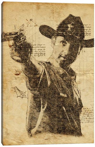 Rick Grimes Davinci Canvas Art Print