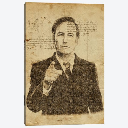 Saul Goodman Davinci Canvas Print #DUR637} by Durro Art Canvas Print