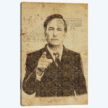 Saul Goodman Davinci Canvas Print #DUR637} by Durro Art Canvas Print