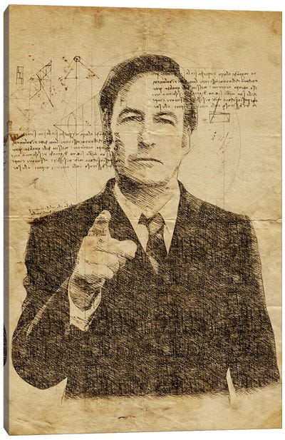 Saul Goodman Davinci Canvas Art Print