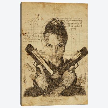 Tomb Raider Davinci Canvas Print #DUR638} by Durro Art Canvas Art