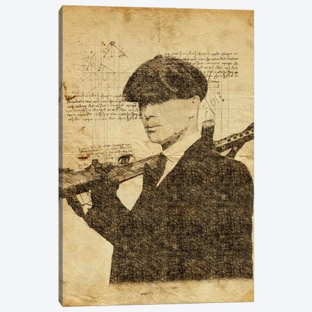 Tommy Shelby Davinci Canvas Print #DUR639} by Durro Art Canvas Artwork