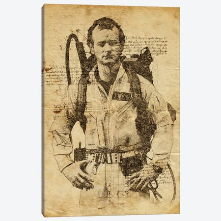 Venkman Davinci Canvas Print #DUR640} by Durro Art Canvas Art Print