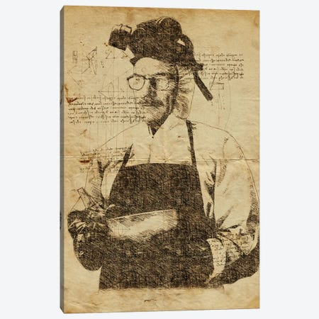 Walter Breaking Bad Davinci Canvas Print #DUR641} by Durro Art Art Print