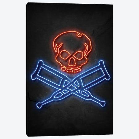 Jackass Neon Canvas Print #DUR645} by Durro Art Canvas Wall Art