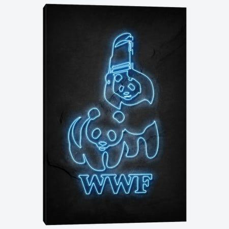 WWF Pandas Neon Canvas Print #DUR649} by Durro Art Canvas Art Print