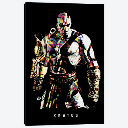 Kratos II Canvas Print #DUR652} by Durro Art Canvas Art