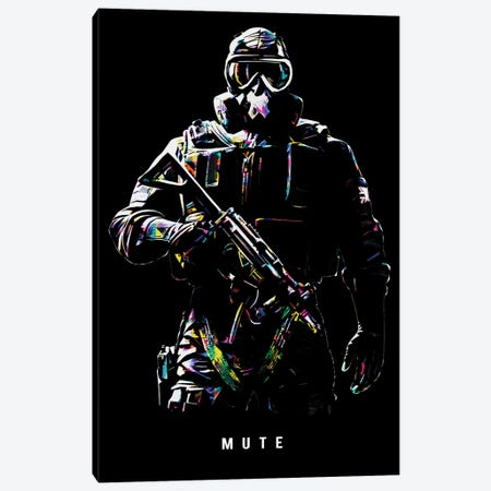 Mute Canvas Print #DUR656} by Durro Art Canvas Print