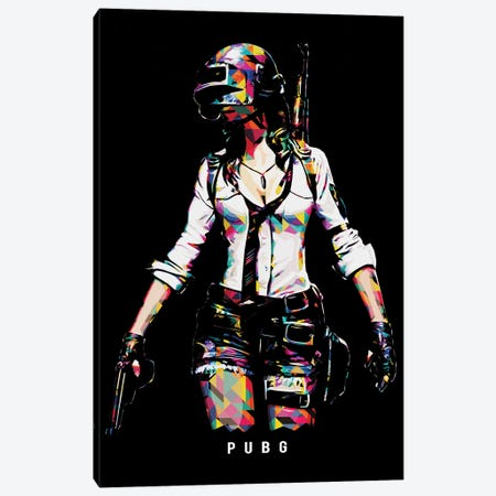Pubg Girl Canvas Print #DUR662} by Durro Art Canvas Print