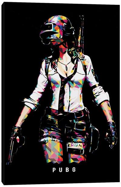 Pubg Girl Canvas Art Print
