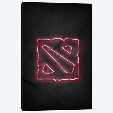 Dota Neon Canvas Print #DUR664} by Durro Art Canvas Artwork