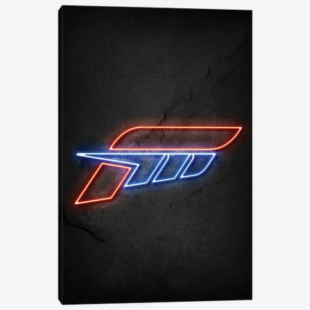 Forza Neon Canvas Print #DUR666} by Durro Art Canvas Wall Art