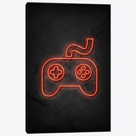 Gaming Controller Neon Canvas Print #DUR668} by Durro Art Art Print