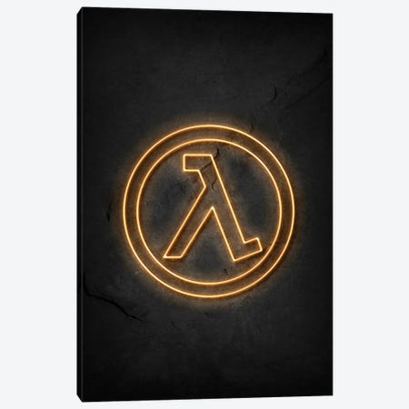 Half Life Neon Canvas Print #DUR673} by Durro Art Canvas Art