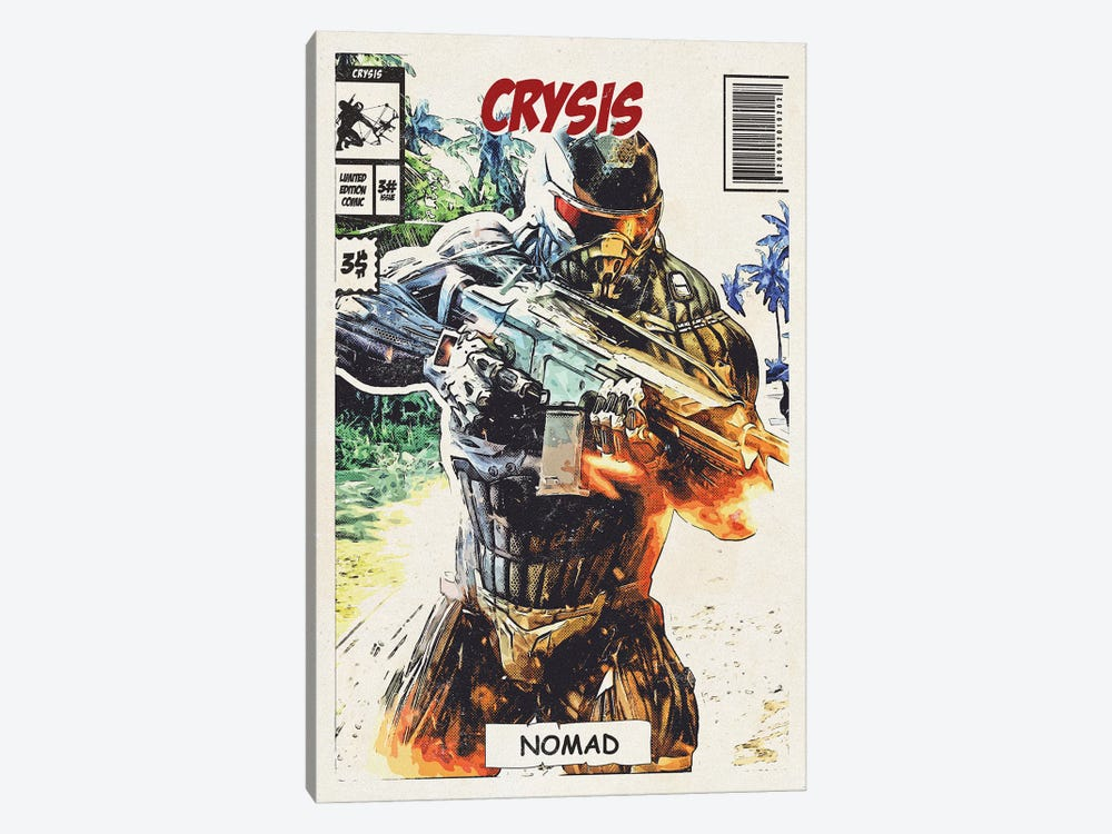 Crysis Comic by Durro Art 1-piece Canvas Wall Art