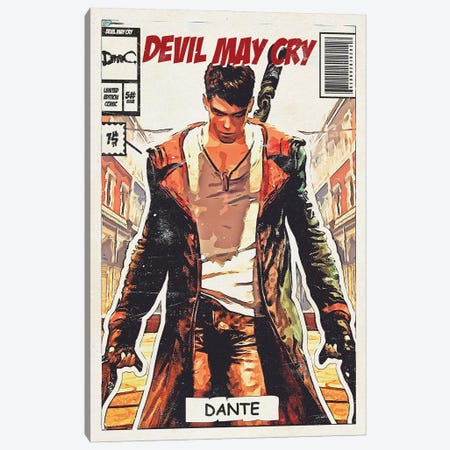 Devil may cry Comic Canvas Print #DUR681} by Durro Art Art Print